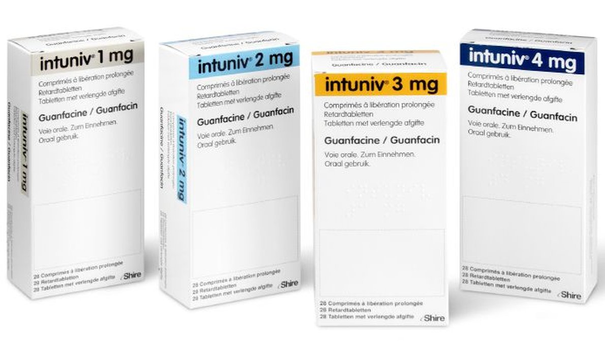 Intuniv medicatie 1mg - 2mg - 3mg - 4mg